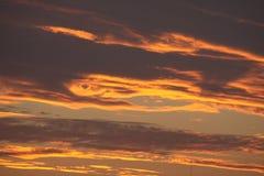 在火的天空 免版税图库摄影