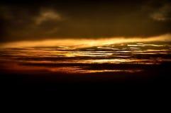 在火的天空 库存照片