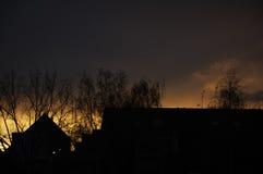 在火的天空 库存图片
