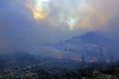 在火的山 免版税图库摄影