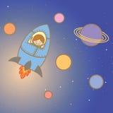 在火箭的孩子 库存图片