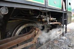 在火车的蒸汽 库存照片
