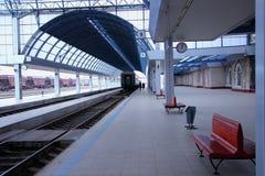在火车站的早晨 库存图片