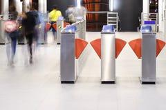 在火车站的自动票机器 库存照片
