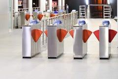 在火车站的自动票机器 免版税库存照片