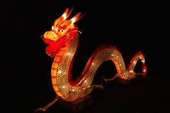 在灯会的中国龙 免版税库存图片