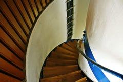 在灯塔的一个楼梯 库存照片