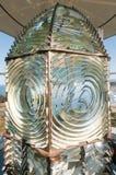 在灯塔的菲涅耳透镜 免版税库存照片