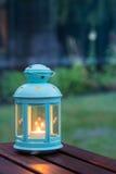 在灯笼的蜡烛 库存照片