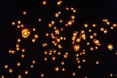在灯节的天空灯笼 图库摄影