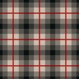 在灰色和红色的长方形无缝的织品样式 图库摄影