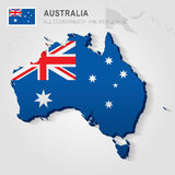 在灰色地图画的澳大利亚 库存照片