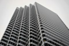 在灰色极谱,旧金山的办公楼 免版税库存照片