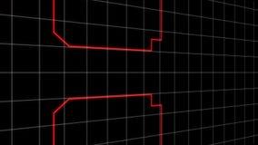 在灰色栅格的红线 库存例证