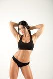在灰色的美好的健身模型 库存图片