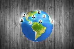 在灰色背景的五颜六色的地球 免版税库存图片