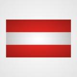 在灰色背景的奥地利旗子 也corel凹道例证向量 库存例证