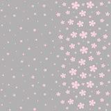 在灰色背景的无缝的花卉样式 免版税库存照片