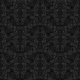 黑无缝的鞋带样式 免版税图库摄影