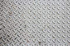 在灰色金属无缝的纹理的对角样式 免版税库存照片