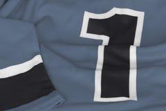 在灰色颜色的曲棍球毛线衣 库存照片