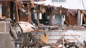 在灾害以后毁坏了公寓 股票视频