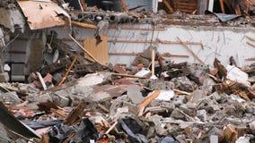 在灾害以后毁坏了公寓 股票录像
