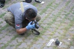 在炸药的发现上 免版税图库摄影