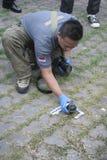 在炸药的发现上 免版税库存图片