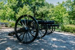 在点公园的两门大炮 免版税库存照片