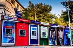 在点的ATM机器 免版税库存图片
