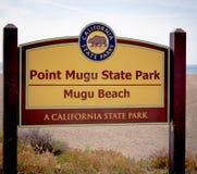 在点Mugu国家公园马利布-马利布,美国的Mugu海滩- 2019年3月29日 库存图片