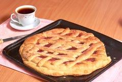 在烘烤盘子的饼 免版税库存图片
