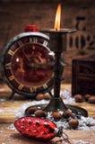 在烛台的蜡烛 库存图片