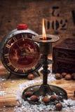 在烛台的蜡烛 免版税库存照片