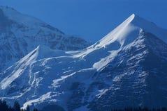 在烟特勒根附近的瑞士阿尔卑斯风景在欧洲。 免版税库存照片