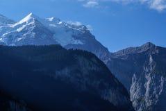 在烟特勒根附近的瑞士阿尔卑斯风景在欧洲。 库存照片