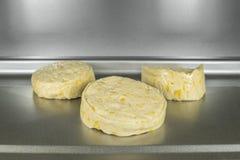 在烤箱宏指令的饼干面团 免版税库存图片