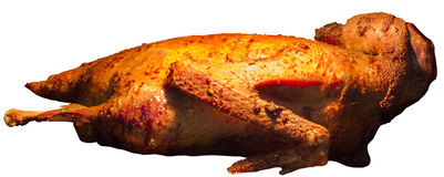 在烤箱烘烤的鹅 免版税库存图片