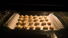 在烤箱的圣诞节曲奇饼 影视素材