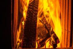 在烤箱的火 库存照片