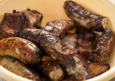 在烤肉的开胃油煎的香肠 库存照片