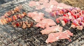 在烤肉的开胃肉 库存图片
