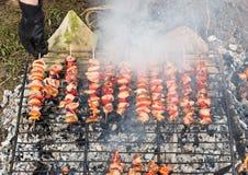 在烤肉的开胃肉 图库摄影