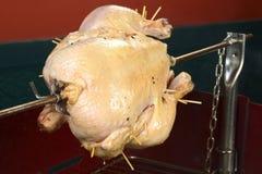 在烤肉的鸡 库存照片
