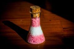 在烧瓶的盐 免版税图库摄影