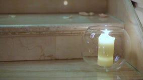 在烧瓶的蜡烛 股票视频