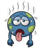 在热天气的地球 免版税库存照片