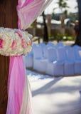 在热带手段的目的地婚礼 免版税库存照片