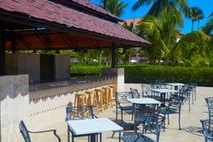 在热带手段的Resto酒吧 库存照片